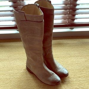 Frye Paige tall tan burnished boot